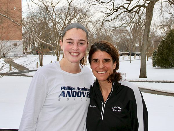 All-American Soccer Goalie, Emily Hardy '20 (left) pictured with athletic director and head coach, Lisa Joel