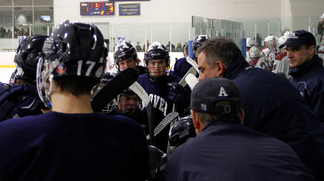 Coach Tortorell commands the huddle